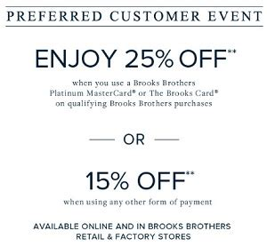 printable coupons brooks brothers outlet sep 10 2016 prefered customer event at brooks brothers
