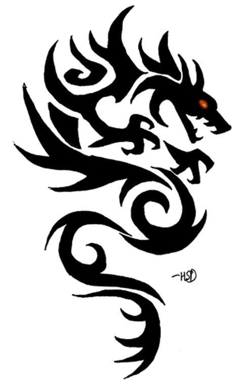 dragon tattoo stencil designs 02 flickr photo clip library
