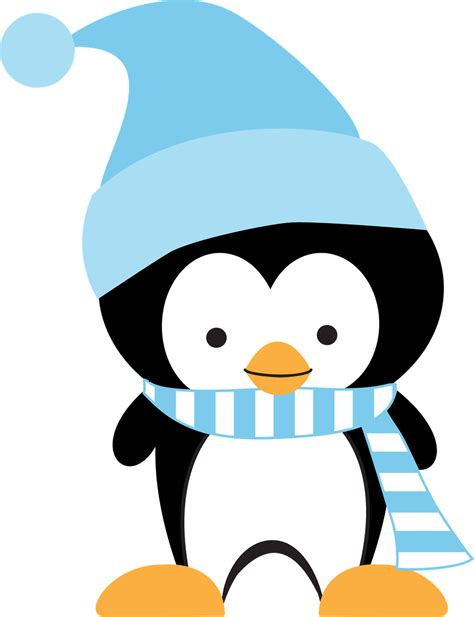 winter clip minus say hello invierno penguins