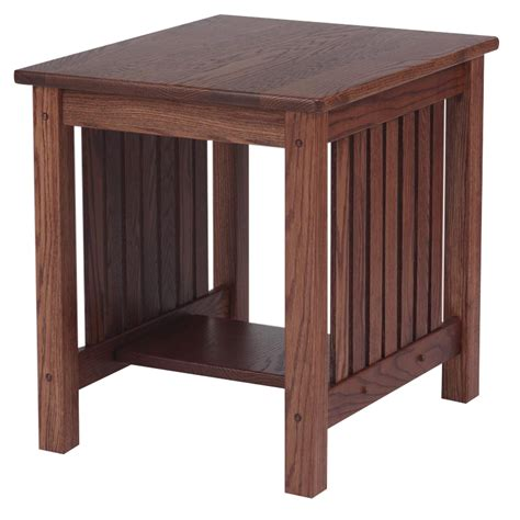 "Mission Solid Oak End Table   21"" x 25""   The Oak"