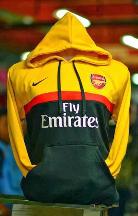Hoodie Arsenal 3d Merah Putih Hitam jumper hoodie arsenal big match jersey toko grosir dan