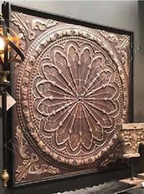 square metal wall decor embossed medallion metal wall sculpture gray black