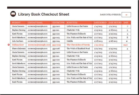 Library Book Checkout Sheet Template Xls Excel Templates Excel Library Template