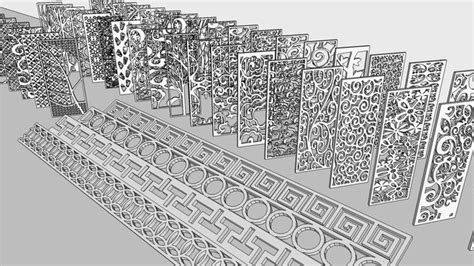 islamic pattern skp large preview of 3d model of home ornament sketchup and