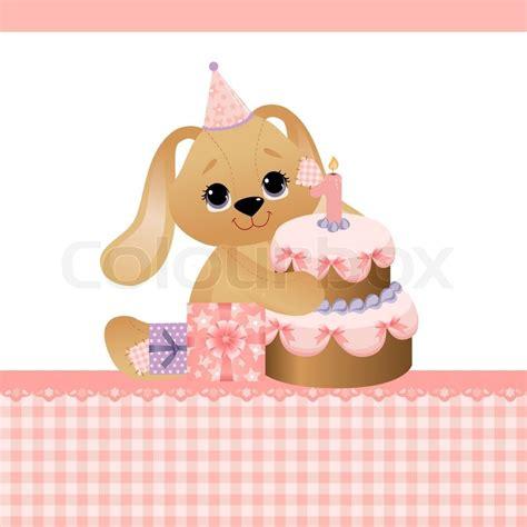 kawaii birthday card template template for baby birthday greetings card stock