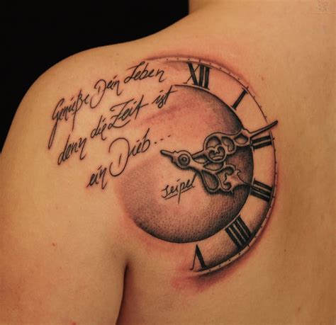 tattoo design clock 13 amazing clock tattoo images and pictures
