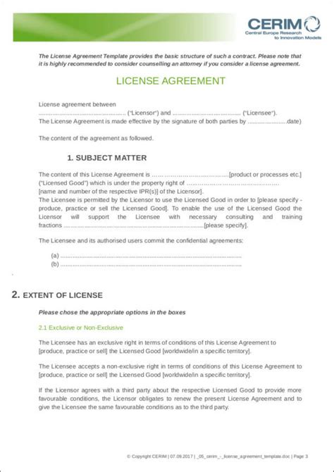content license agreement template free contract templates 40 free sles exles