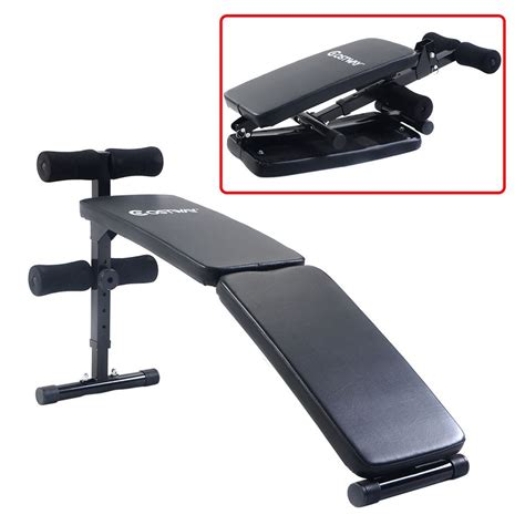 gym exercise bench gym equipment adjustable folding arc shaped sit up bench