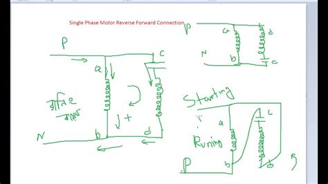 reversing a single phase motor wiring diagram reversing