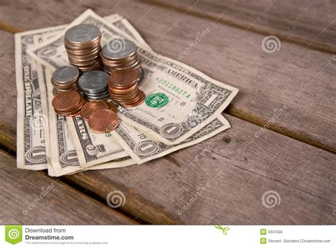 Money On A Table by Coins Money On Picnic Table Stock Photo Image 3337500