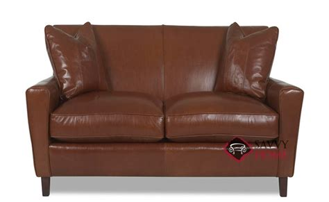 sofa shops glasgow area glasgow leather loveseat by savvy is fully customizable by