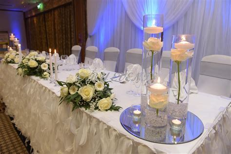 black and royal blue wedding theme head table   Google
