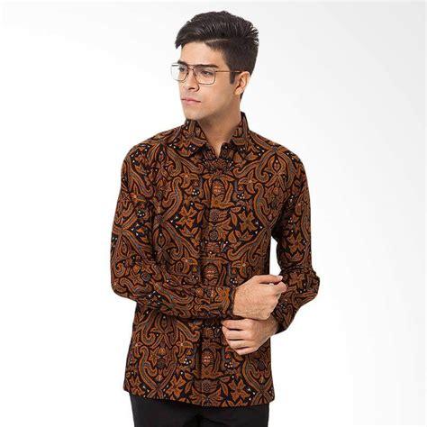jual asana classic wing sleeves kemeja batik pria light brown harga kualitas