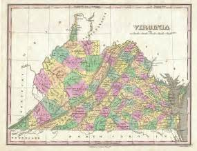 Us Map Virginia by File 1827 Finley Map Of Virginia Geographicus Virginia