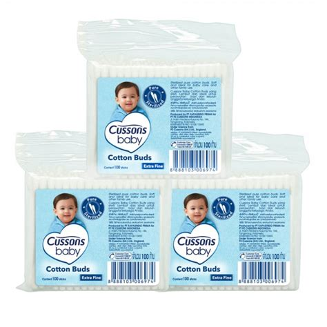 Cotton Buds Cussons cussons baby cotton bud 100s bundle 3 pcs