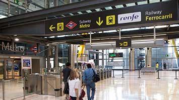salidas ave madrid tren al aeropuerto de madrid barajas ir en tren a la t4