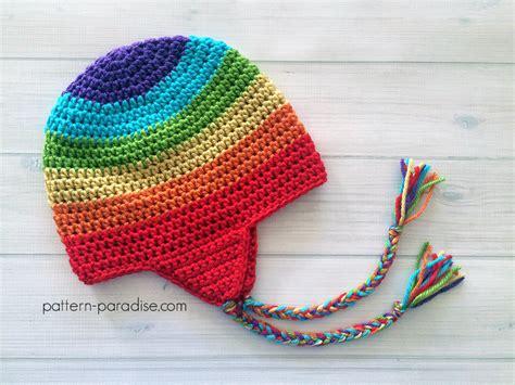 free pattern hat free crochet pattern easy earflap hat pattern paradise