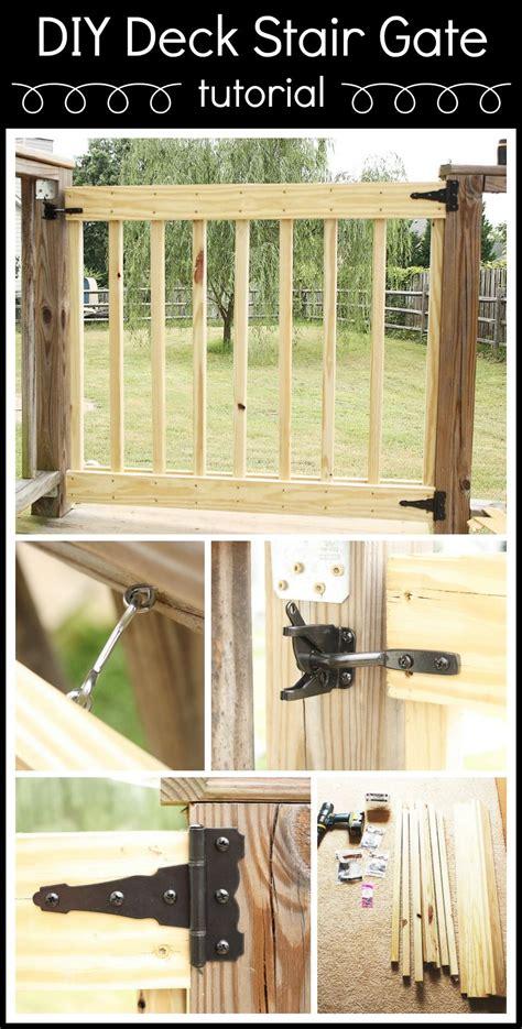 build   deck stair gate diy