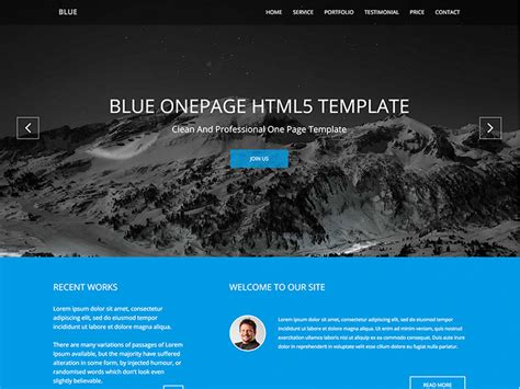 bootstrap themes free blue blue onepage business bootstrap template