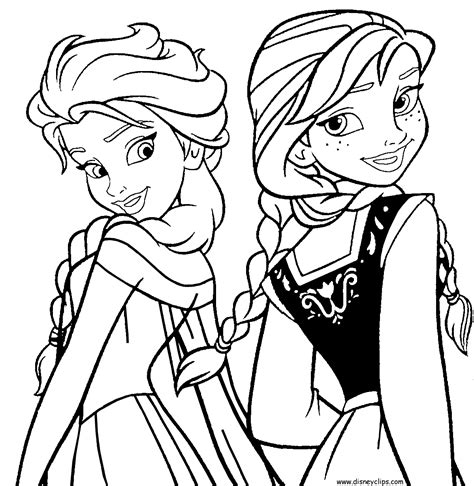 coloring book page frozen gallery