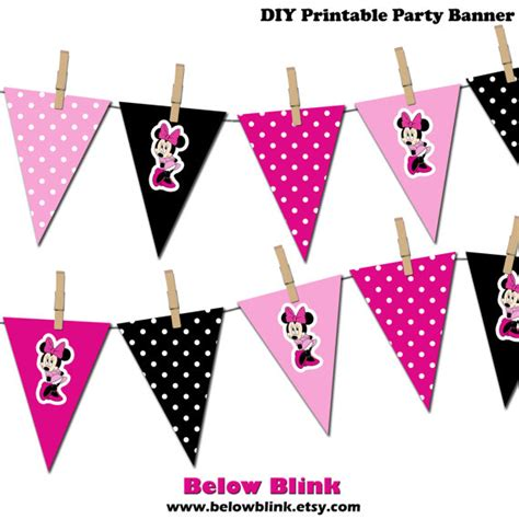 printable minnie birthday banner minnie mouse banner minnie mouse printable party banner