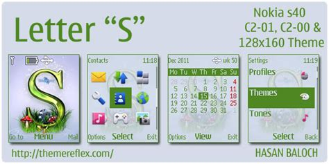 how to download themes for nokia c1 01 letter s theme for nokia c1 01 c2 00 128 215 160