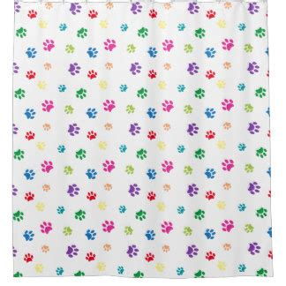 paw print curtains paw print shower curtains zazzle