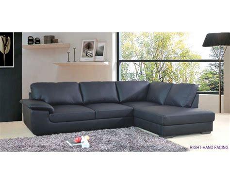 collingwood black leather corner sofa 163 500 house ideas