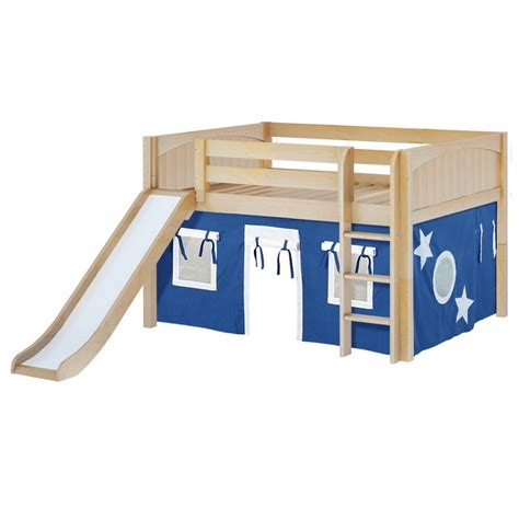 low loft bed with slide maxtrixkids sit22 np low loft bed with straight ladder