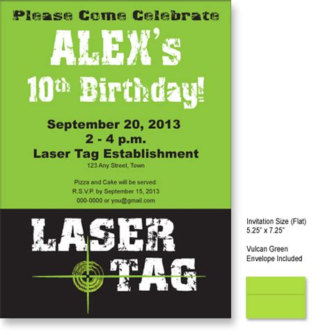 laser tag party invitations ideas
