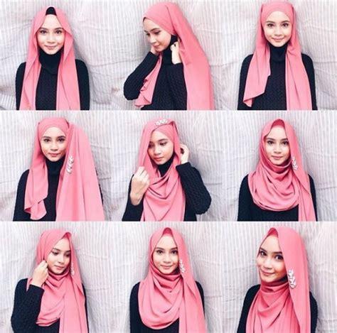 3 video tutorial berhijab pashmina semi tutorial shawl gaya niena baharun cik sukα taip