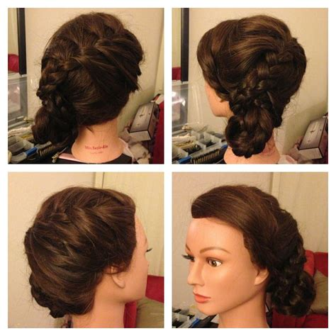 1920s side braid braided up do perfect for long and thick hair www