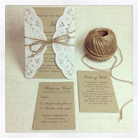 diy wedding invitation twine rustic wedding invitation rustic chic by