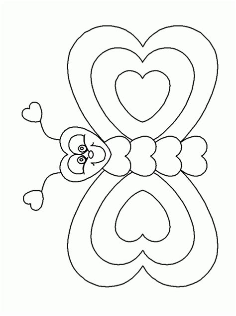 heart butterfly coloring page 40 simple fun valentine s day craft ideas just for kids