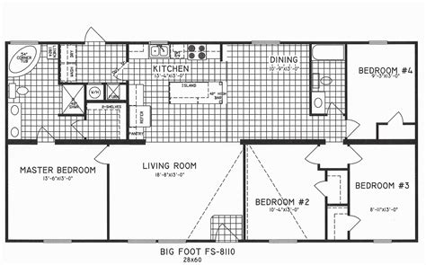 4 bedroom floor plans colorful single story open floor
