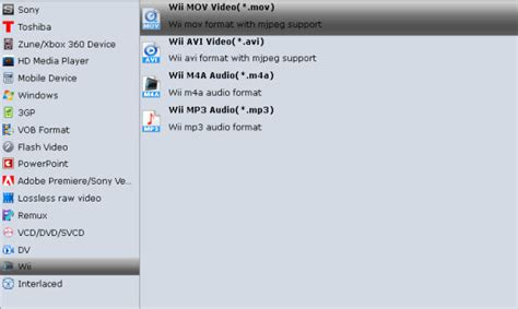 format video wii rip blu ray to mov for playing on wii u device assistant