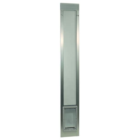 Ideal Patio Pet Door Ideal Pet Fast Fit Pet Patio Door Large Silver Frame 77 5 8 To 80 3 8 Inches