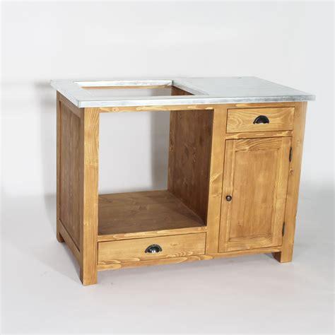 cuisine massif meuble de cuisine en bois pour four et plaques cagne