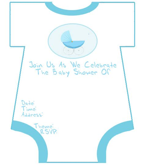free printable baby shower templates boy 4434