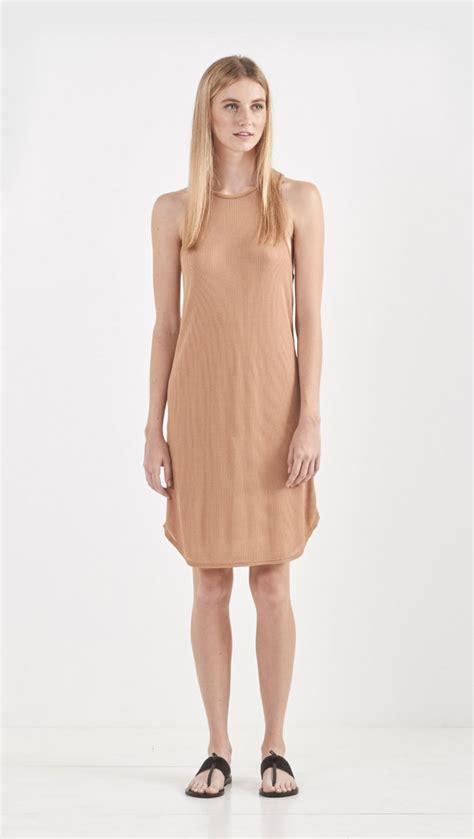 Cal Dress 1 lyst land of cal slip dress in brown