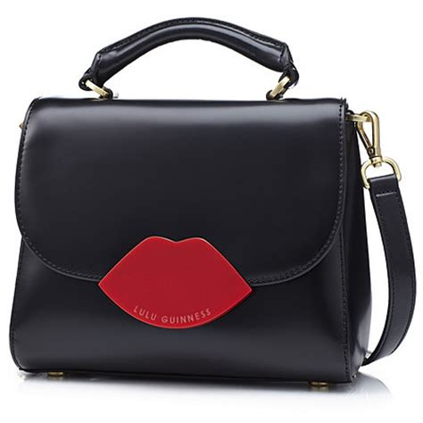 Lulu Guinness This Is The Purse by Lulu Guinness Small Izzy Polished Leather Handbag With