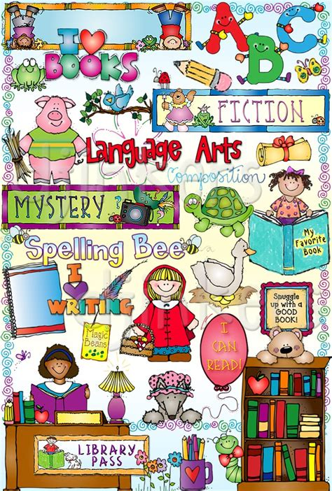 language arts clipart clip for reading writing parts of speech