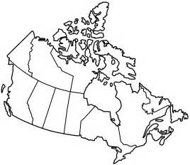 outline of canada map geography blank map of canada