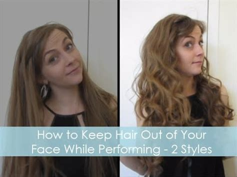 hairstyles to keep curly hair out of face how to keep hair out of your face while performing 2