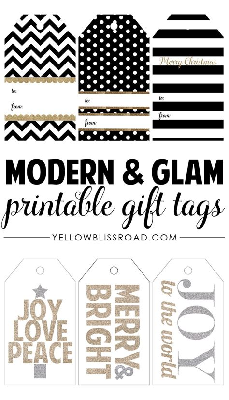 printable christmas tags black and white happy holidays modern printable gift tag set tatertots