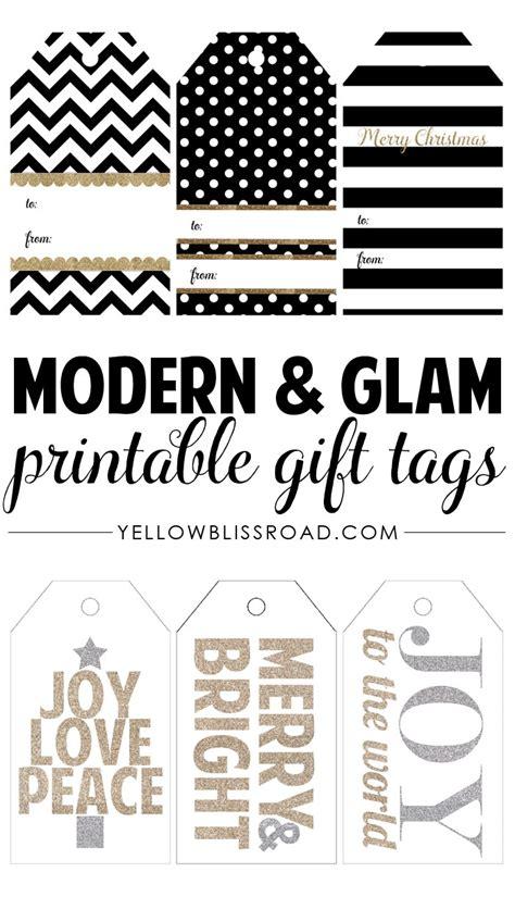 free printable christmas tags black and white happy holidays modern printable gift tag set tatertots