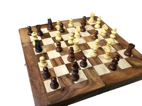 wooden chess set hand carved wooden chess set vintage pieces board wood