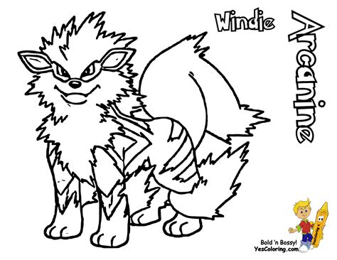 Pokemon Coloring Pages Arcanine | pokemon arcanine coloring pages images pokemon images