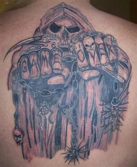 game over tattoo 34 best images about grim reaper tattoos on