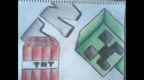 imagenes para dibujar a lapiz de minecraft dibujando creeper minecraft speed x8 youtube